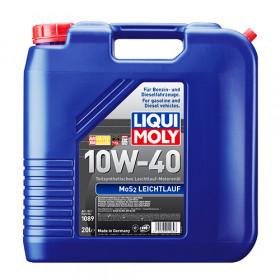 Полусинтетическое моторное масло с молибденом MoS2 Leichtlauf SAE 10W-40 20л.