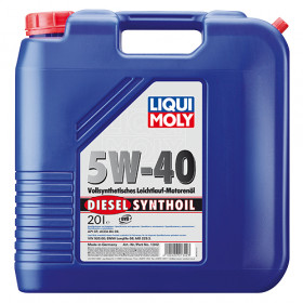 Синтетическое моторное масло - Diesel Synthoil SAE 5W-40   20 л.