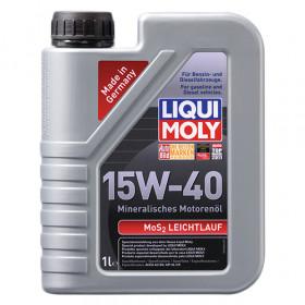 Минеральное моторное масло с молибденом MoS2 Leichtlauf SAE 15W-40   1 л.