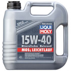 Минеральное моторное масло с молибденом MoS2 Leichtlauf SAE 15W-40   4л.
