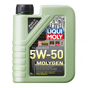 Синтетическое моторное масло - Molygen 5W-50   1 л.